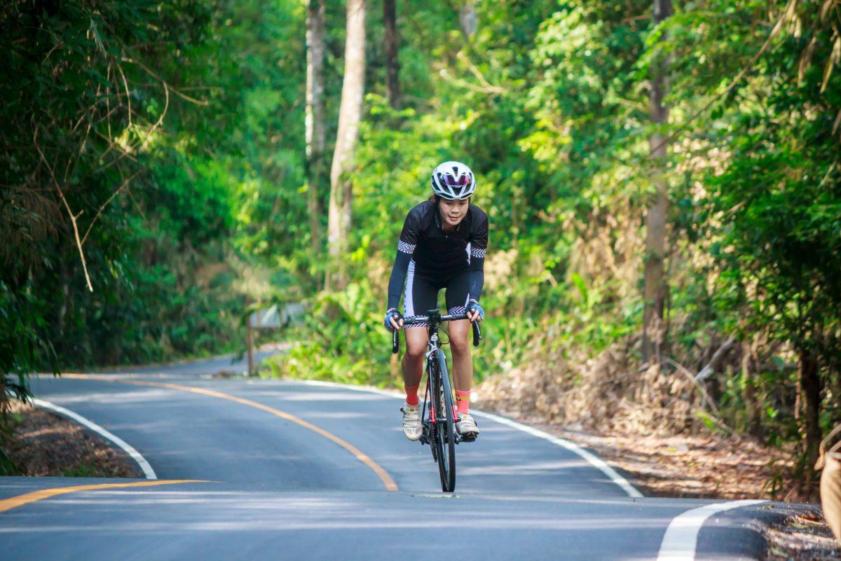 Winter Cycling training. Bike